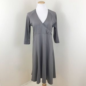 Columbia Gray Faux Wrap Front Travel Dress